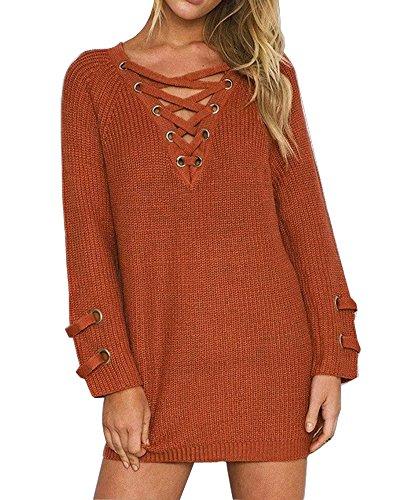 Knit Sweater Mini Dress - 9