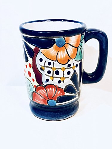 4.5'' 1 Mexican Talavera Pottery Cappuccino Mug for your favorite Coffee, Latte, Tea or Hot Chocolate for Daily Use and Home Decor by Guanajuato_Gardens