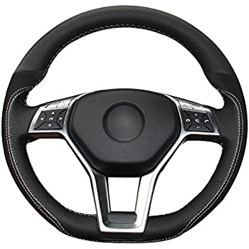 Leather steering wheel cover for mercedes benz for Mercedes benz wheel covers