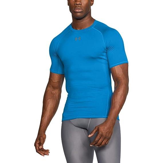 b349751e3 Under Armour Men's HeatGear Armour Short Sleeve Compression Shirt, Maroon/Steel,  XXXX-