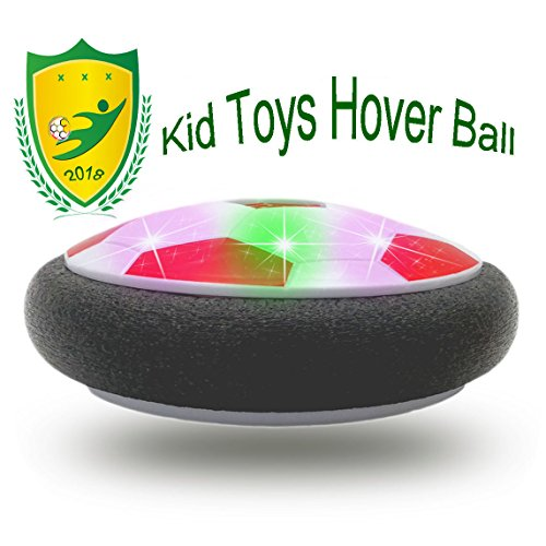 E&W Kids Toys, Hover Ball Air Power Floating Soccer LED Sports Toys With Foam Bumpers 4-5 Year Old Boys Indoor Activities(Style2 - Cool Bumper