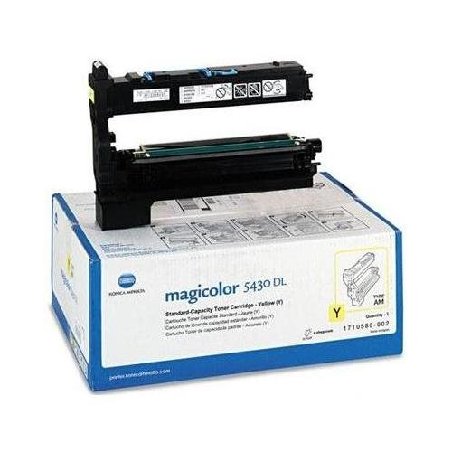 002 Yellow Laser Toner Cartridge - Konica Minolta 1710580-002 Toner Cartridge, Yellow, Laser, 6000 Page