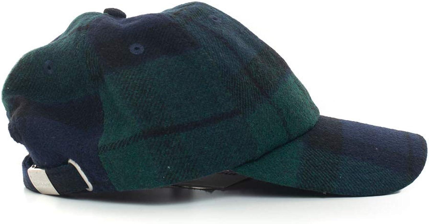 Barbour - Gorro con Visera Verde/Azul Lana para Hombre Verde/BLU ...