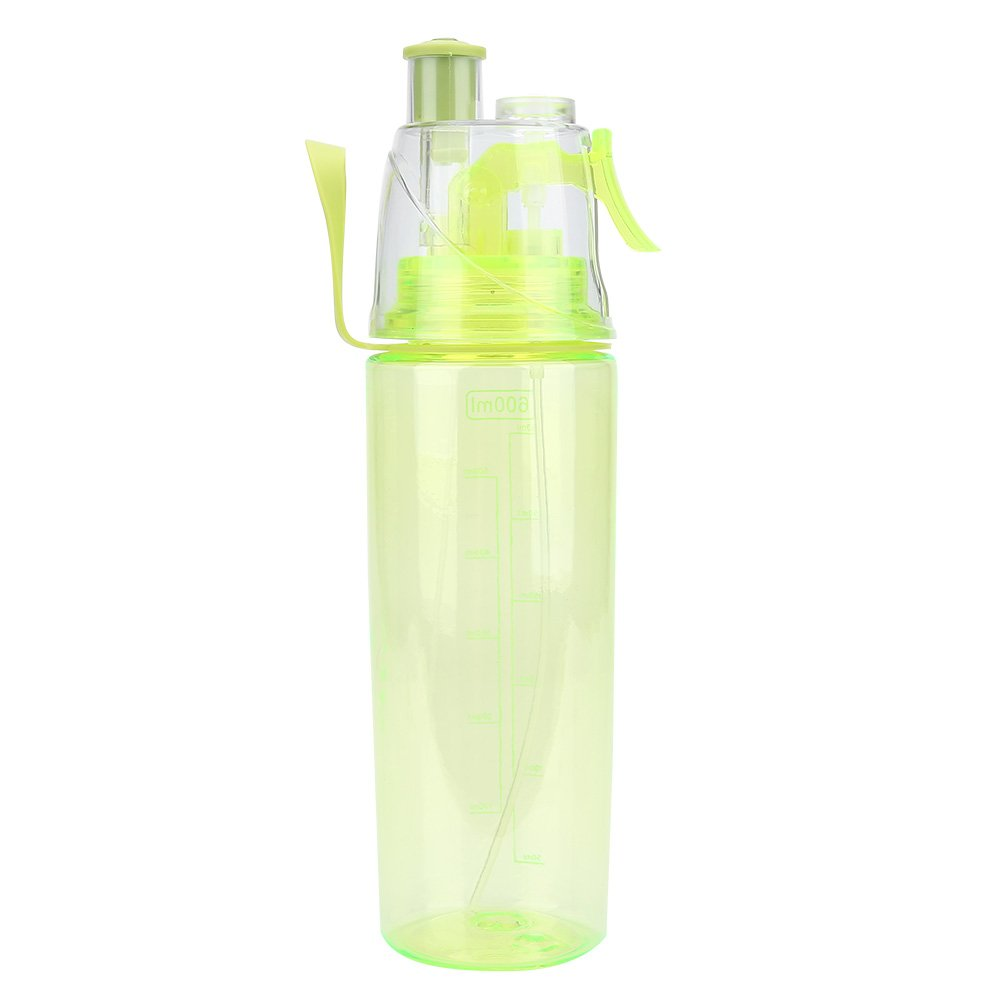 600ml Portable Sport Water Bottle with Straw /& Strap Flip Top Leak Proof Water Bottle Non-Toxic BPA Free /& Eco-Friendly Clear Plastic Spray-Head Cup for Sports School Cycling Camping Hiking