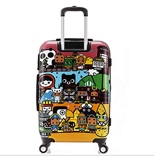 Suitcase, 20-inch children's password box, mute caster luggage, expandable, TSA customs password lock, security anti-theft by HongHe (Image #2)