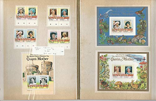 Tuvalu Stamp Collection 1985 Queen Elizabeth, 18 Pages, Vaitupu + Others