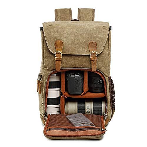 Leinwand Kamera rucksack SCAML DSLR SLR Wasserdicht Stoßfest Leicht und langlebig für Digitalkamera Canon Nikon Sony…