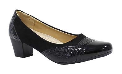 Femme Shoes 35 Talon À Bi Taille Carré By Chaussure Matière LA4Rjq35