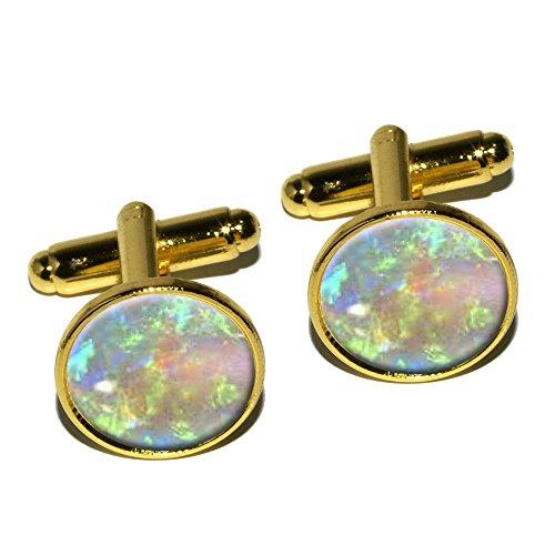 Gold Opal Cufflinks - 8