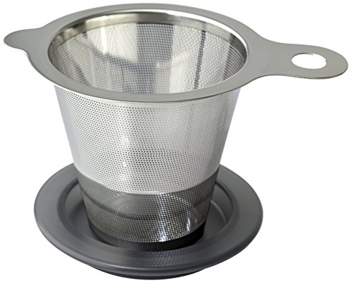 FORLIFE 618-A-CHC One Cup Tea Strainer, Stainless Steel, Charcoal