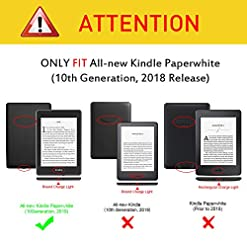 FINTIE Slimshell Case for Kindle Paperwhite (10th Generation, 2018 Release) – Lightweight Protective Cover with Auto Sleep/Wake, Not Fit Kindle 10th Gen 2019, Galaxy