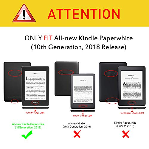 Fintie Slimshell Case for All-New Kindle Paperwhite (10th Generation, 2018  Release) - Premium Lightweight PU Leather Cover with Auto Sleep/Wake for