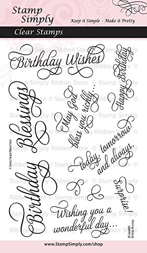 Stamp Simply Clear Stamps Birthday Blessings 4x6 Inch Sheet - 10 Pieces ()