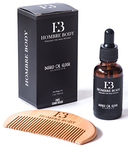 beard oil comb set beard care gift kit for professional men unscented with organic. Black Bedroom Furniture Sets. Home Design Ideas