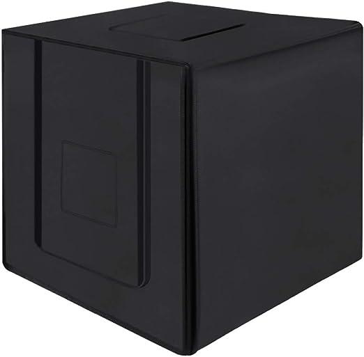 MMFXUE 80cm Plegable portátil 80w 8500lm Kit de Caja de Carpa para ...