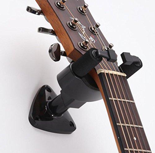 Phorcs Guitar Hanger, Professional Guitar Hook Holder Wall Mount Display, Easy to Install, Fits All Size Electric Guitar, Ukulele Acoustic Bass Mandolin Banjo