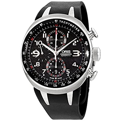Oris TT3 Chronograph Automatic Titanium Mens Watch Calendar Rubber Strap 674-7587-7264-RS
