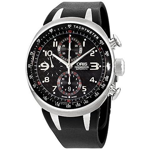 Oris TT3 Chronograph Automatic Titanium Mens Watch Calendar Rubber Strap 674-7587-7264-RS (Watch Automatic Oris)
