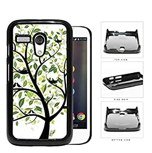 Tree With Green Leaves And Birds Nesting Hard Plastic Snap On Cell Phone Case Motorola Moto G