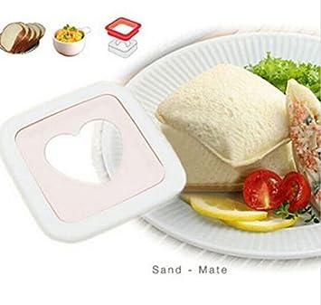 fd1886 miel de color rosa forma de corazón sándwich cortador de ...