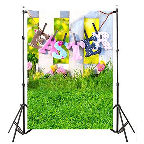 (YJYdada Easter Day Theme Vinyl Photography Backdrop Custom Photo Background Props (C))