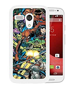 Fashionable And Unique Designed Cover Case With Spider Man Foes White For Motorola Moto G Phone Case