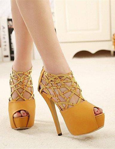 ShangYi Women's Shoes Stiletto Heel Wedges/Peep Toe Sandals Casual Black