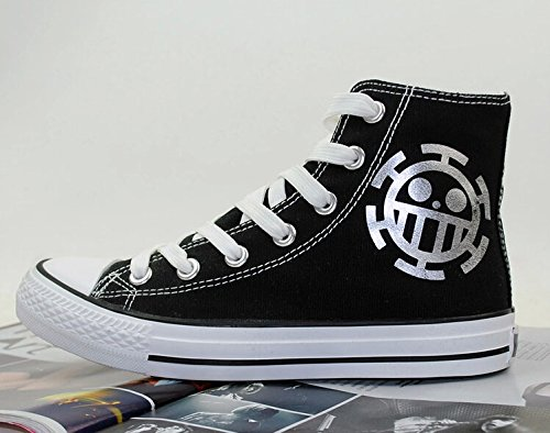 One Piece Anime Trafalgar Law Cosplay Shoes Canvas Shoes Silver