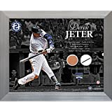 MLB New York Yankees Derek Jeter Hitting with Timeline 11x14 Uniform and Dirt Collage