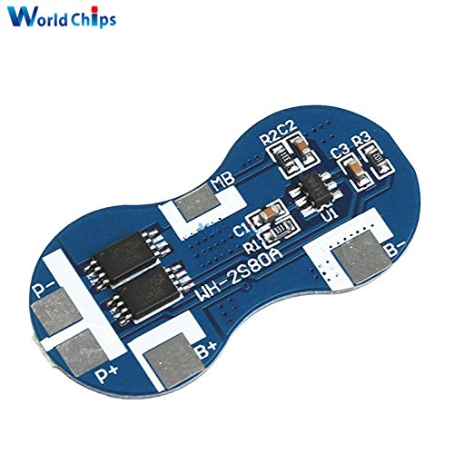 2S Li-ion 18650 Lithium Battery Charger Protection Board 7.4V Overcurrent Overcharge Overdischarge Protection 4A 2 Series BMS