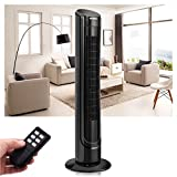 Custpromo 40'' LCD Digital Control Oscillating Cooling Tower Fan With Remote Control, Black