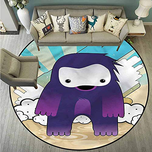 Skid-Resistant Rugs,Anime,Japanese Manga Monster,Anti-Slip Doormat Footpad Machine Washable,4'3