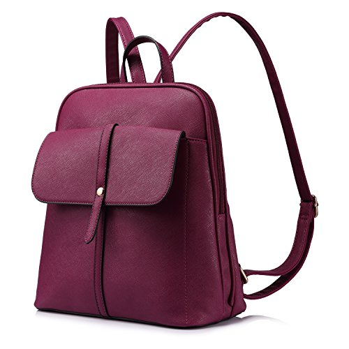 Mochilas Mujer Para Niña Bolsos de Escuela Viaje Bolso de Grande Capacidad,Amarillo Púrpura