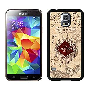 Harry Potter Marauders Map Black Hottest Sell Customized Samsung Galaxy S5 I9600 Case