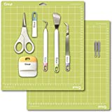 Cricut Blades 2 Pack, Basic Tools Set 5 Pack and 12x12 Cutting Mat Bundle