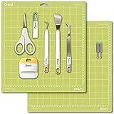 Cricut Blades 2 Pack, Basic Tools Set 5 Pack and 12x12 Cutting Mat Bundle