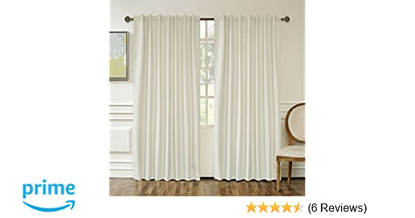 "Lullabi Extreme BlackOut Window Curtain, Linen, 50"" x 84"" (Pack of 2)"