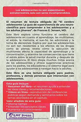 Resumen y guía de estudio - el cerebro adolescente: Resumen y guía de estudio (Spanish Edition): Lee Tang, Jorge Ledezma Millán: 9781547522910: Amazon.com: ...