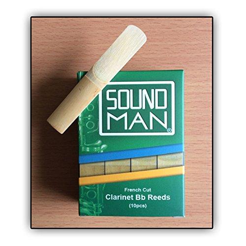 7 opinioni per Soundman 10 Ance per Clarinetto (sistema Boehm) Reeds clarinet Bb French Cut Sib