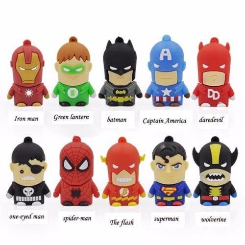 Superhero flash drives