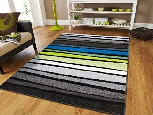 New Fashion Striped Rugs For Indoor And Outdoor Rugs 2x3 Foyer Rugs Bright  Colors Rugs For Home Blue Green White Black Gray 2x4 Entrance Rug Washable  Small ...