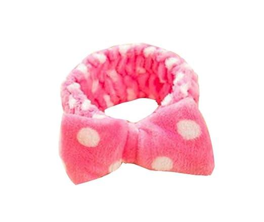 qinlee Mujer Cabello Banda wasche de tu cara//MAKE Up//kosmetol ogie accesorios lazo flexible frente bandas punto de onda estilo briquetas de cabello pelo banda