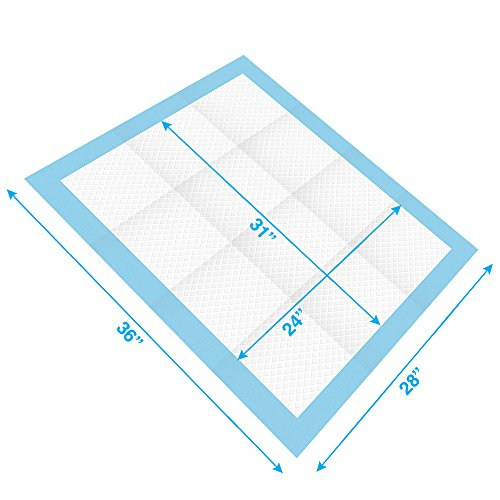 Extra-Large 36 x 28 Puppy Training Pads for Large Breeds by Best Pet Supplies