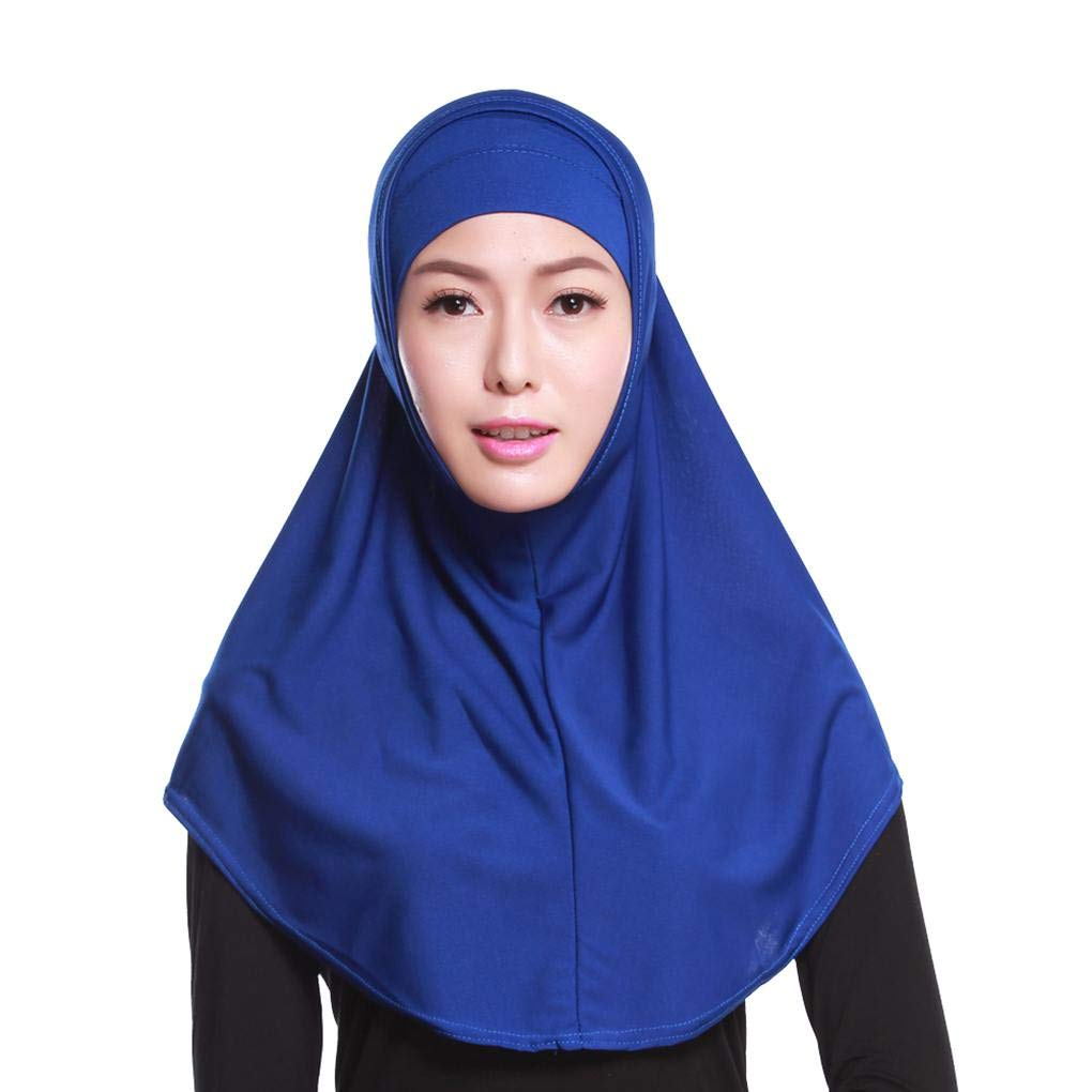 Bobury Frauen Zweiteiler Kopftuch Vermischen Sie Garn Plain Full Cover Leichte Wrap Cape Farbe Schals Erwachsener Schal