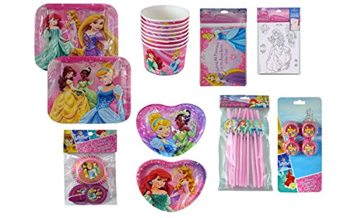 Disney Princess Party Decorations Plates Invitations Snack Cups Character Straws