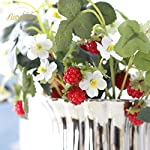 NICROLANDEE-10pcs-Artificial-Flowers-Red-Strawberry-and-Raspberries-Fruit-Real-Touch-Fake-Silk-Flowers-for-Holiday-Garden-Home-Yards-Office-Decorations-Spring-Wreaths-Decor