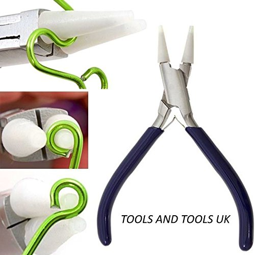 Round /& Flat Nose Pliers Nylon Jaws Bead Wire Work Forming Tool With Extra Jaws