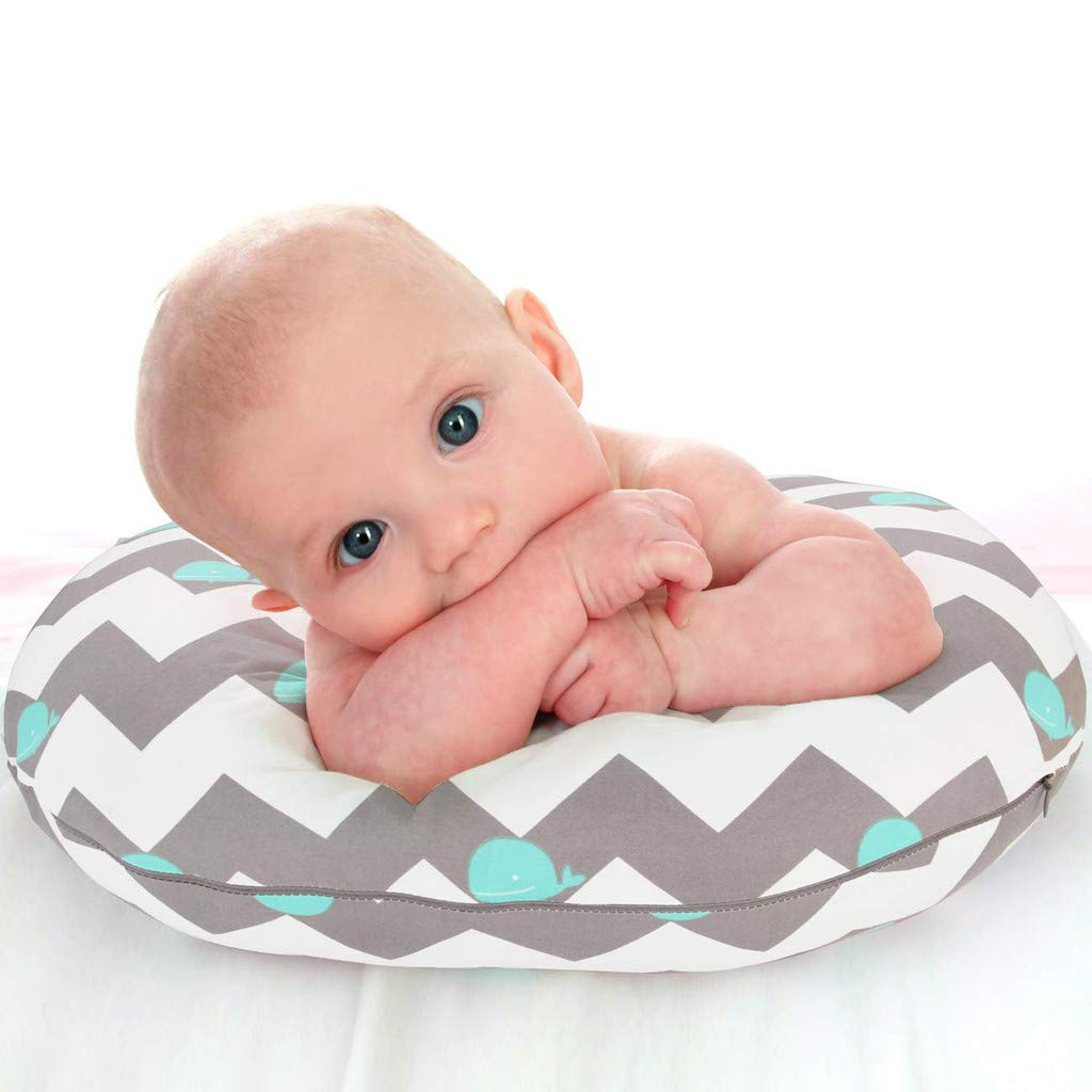2PC Newborn Baby Breastfeeding Pillow Cover Nursing Pillow Cover Slipcover Pregnancy Pillow /& Nursing for Breastfeeding Baby Maternity Full Body for Sleeping Mom and Baby 22.5 x 18