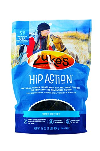 3 Packs Zuke's Hip Action with Glucosamine and Chondroitin BEEF (3 lb)