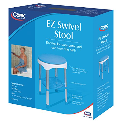 Carex Ez Swivel Stool 7 Pounds For Assistance In Bath Or